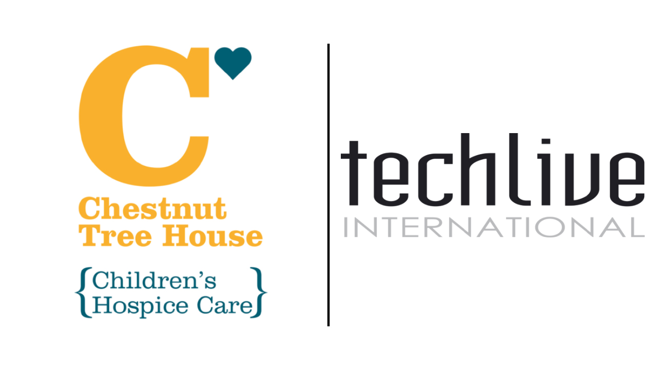 Image of Techlive and Chestnut Tree house logos together
